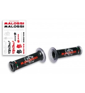 2 BLACK GRIPS WITH MALOSSI TRIBAL LOGO (Ø 30 MOD. WITHOUT SIDE FASTENING)