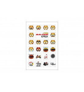 FOLDER of EMOJI Malossi MINI STICKERS 11x16,6 cm