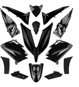 TMAX 530 YAMAHA KIT 14 BODYWORK PARTS BRILLIANT BLACK 2015- 16
